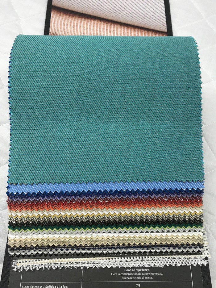 Our outdoor fabrics are available in many plain and patterened variations