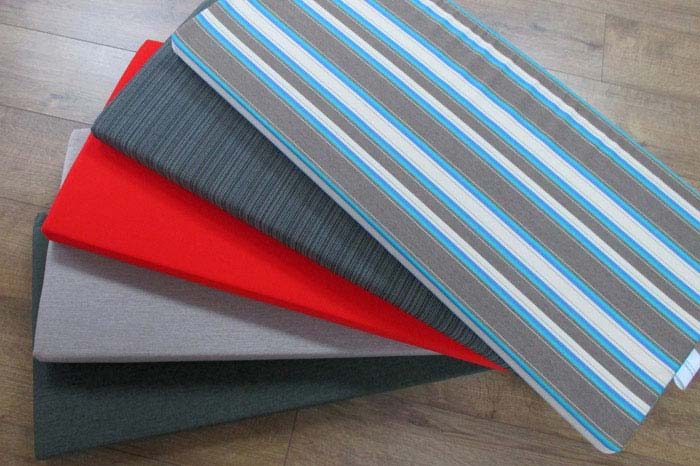 A huge range of specialised outdoor seating fabrics are available