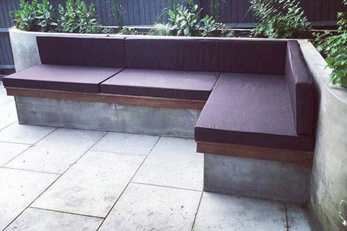 Bespoke outdoor waterproof seat and backrest cushions